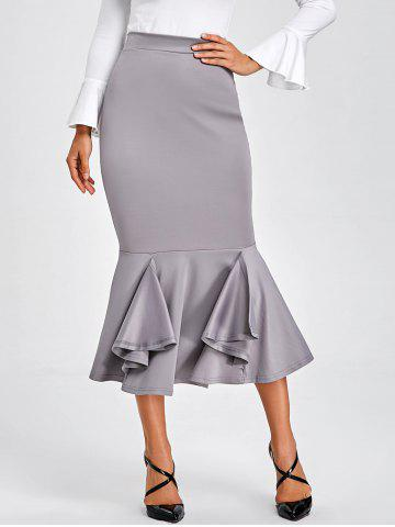 Buy Mermaid Bodycon Midi Skirt