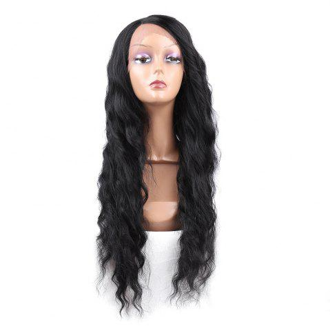 Online Long Side Parting Wavy Synthetic Lace Front Wig