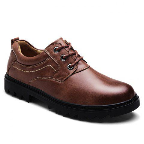 New Low Heel Lace Up Stitching Casual Shoes