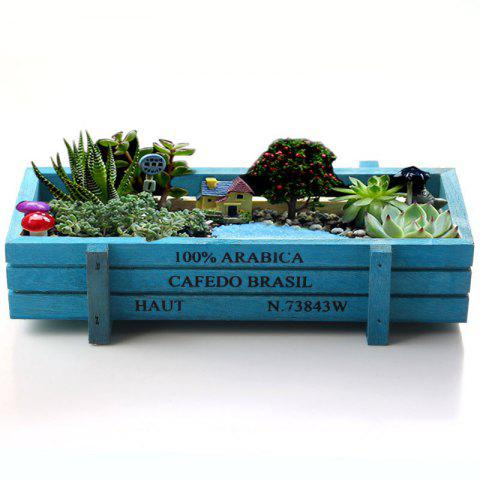 Hot Rectangular Storage Box Succulent Plants Flower Pot Wood Planter