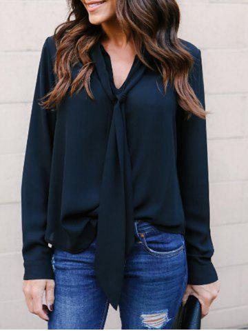 Shop Long Sleeve Chiffon Shirt with Tie