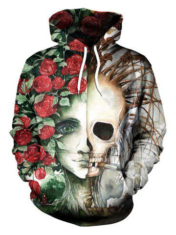 Fashion 3D Ciga Smoking Skull Hoodie