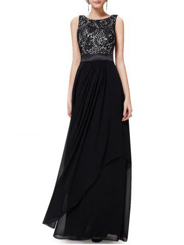 Discount Back V Maxi Party Dress