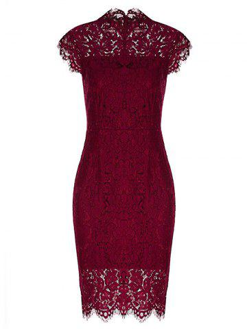Shops Fitted Vintage Lace Dress