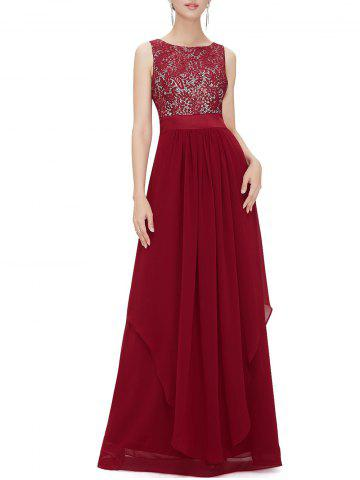 Online Back V Maxi Party Dress