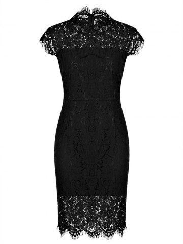 Trendy Fitted Vintage Lace Dress