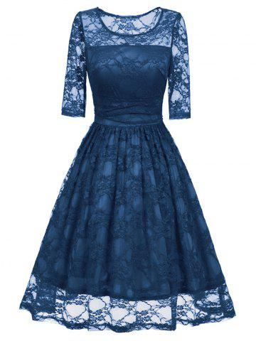 Unique Lace Vintage Fit and Flare Dress