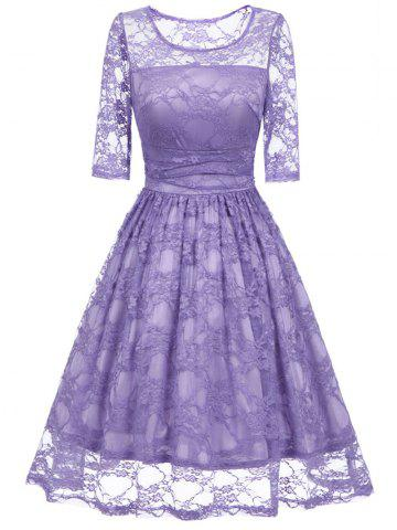 Outfits Lace Vintage Fit and Flare Dress