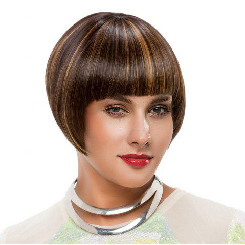 Store Short Neat Bang Colormix Straight Bob Synthetic Wig