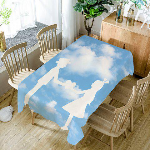 Online Valentine's Day Hand in Hand Love Pattern Table Cloth