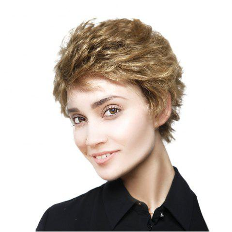 Best Short Side Bang Fluffy Layered Curly Synthetic Wig