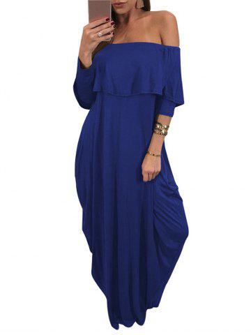 Chic Off The Shoulder Maxi Dress