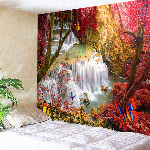 Shops Landscape Wall Hanging Deco Forest Waterfall Tapestry