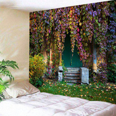 Outfits Old House with Vines Printed Wall Decor Tapestry