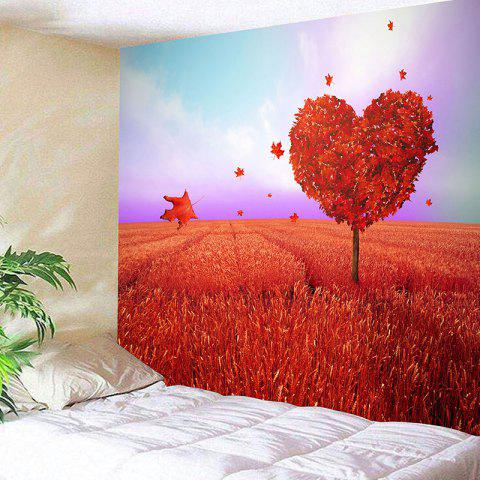 Cheap Valentine's Day Love Heart Tree Pattern Novelty Wall Tapestry