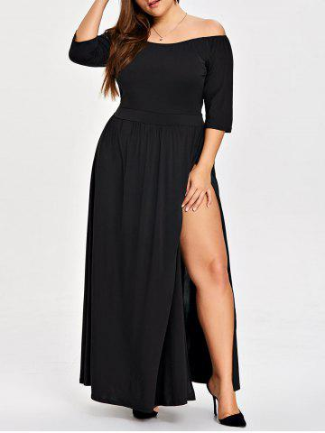 Outfits Plus Size Slit Off The Shoulder Dress