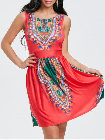 Fashion Ethnic Print Sleeveless Dress