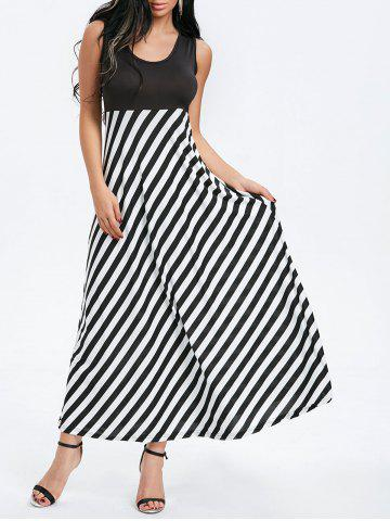 Affordable Sleeveless Striped Maxi Dress