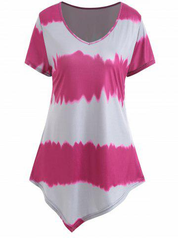 Fashion Ombre Asymmetrical Plus Size Tee