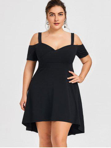Plus Size Open Shoulder High Low Dress 766d6169d391