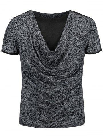 Cowl Neck Marled T-shirt