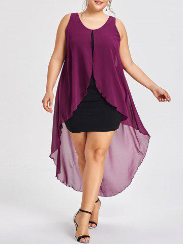 Hot Plus Size Sleeveless Midi Flyaway Dress