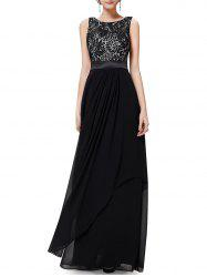 Back V Maxi Party Dress -