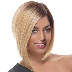 Short Side Parting Ombre Straight Bob Synthetic Wig -