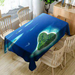 Heart Islands Printed Microfiber Waterproof Table Cloth -