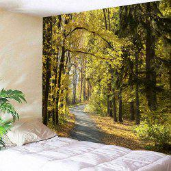 Wall Hanging Forest Path Print Tapestry -