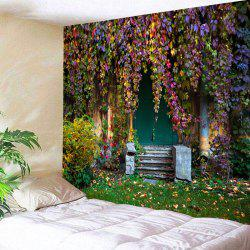 Old House with Vines Printed Wall Decor Tapestry -