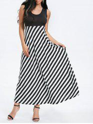 Sleeveless Striped Maxi Dress -