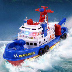 Children Bathing Electric Ship Marine Fireboat Music Light Water Toy(Without Batteries)