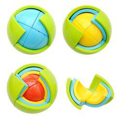 3D Educational Puzzle Toy DIY Maze Toy Wisdom Ball - Colorful