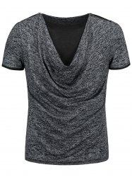 Cowl Neck Marled T-shirt -