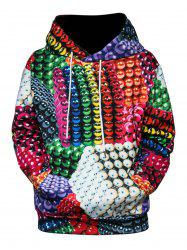 Colorful Magnetic Balls 3D Print Pullover Hoodie -