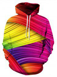 Colorful Rainbow 3D Print Pullover Hoodie -