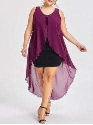 Plus Size Sleeveless Midi Flyaway Dress -