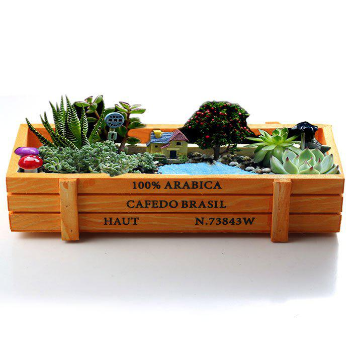 Online Rectangular Storage Box Succulent Plants Flower Pot Wood Planter