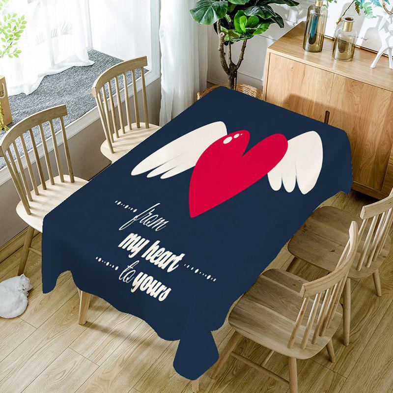 New From My Heart to Yours Print Waterproof Table Cloth