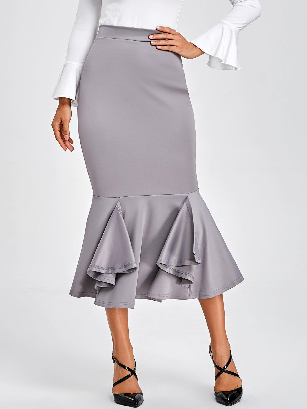 Sale Mermaid Bodycon Midi Skirt