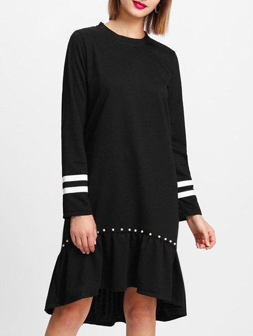 Online Striped Insert Sleeve Shift Dress
