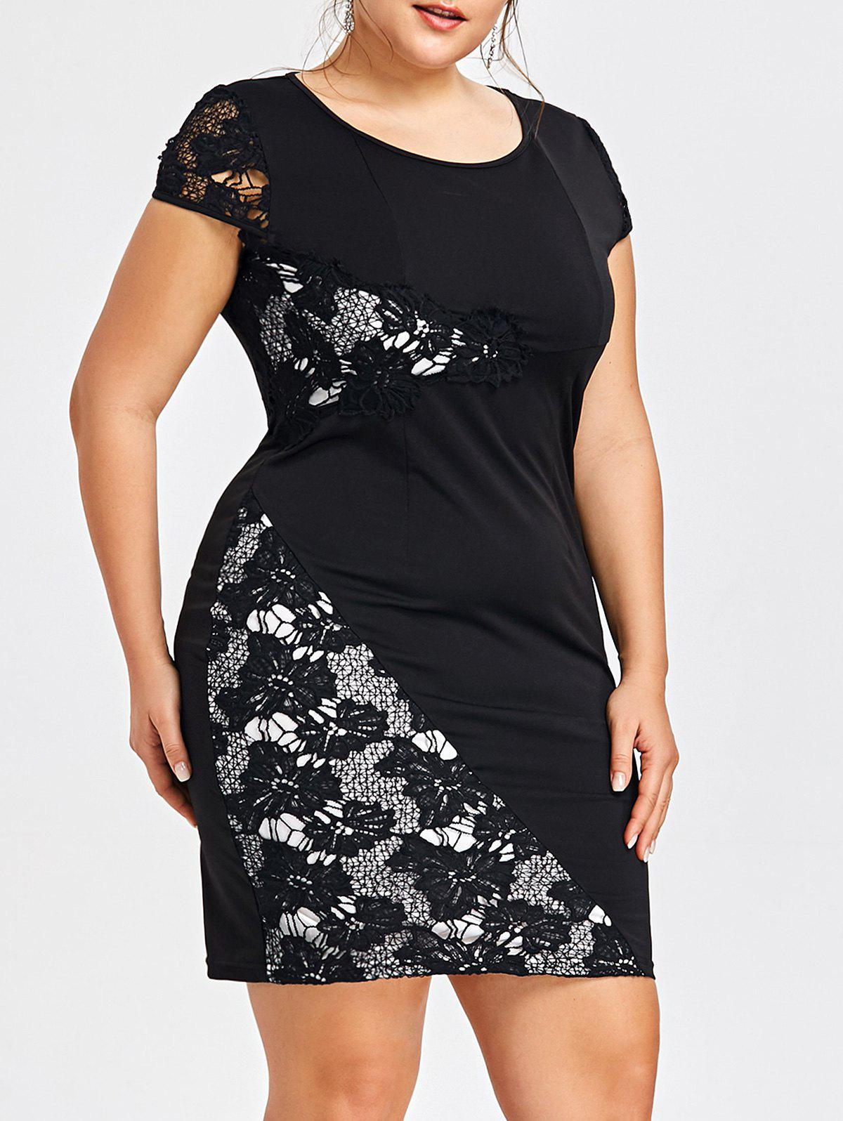 Latest Plus Size Cap Sleeve Fitted Dress