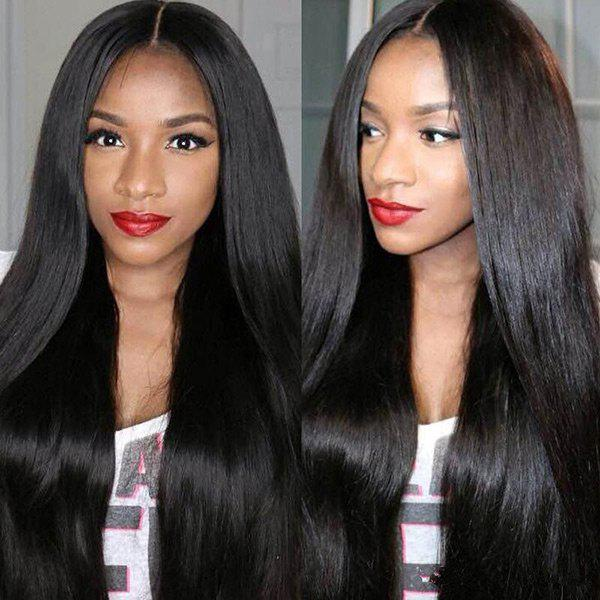 Fancy Middle Parting Long Straight Synthetic Wig