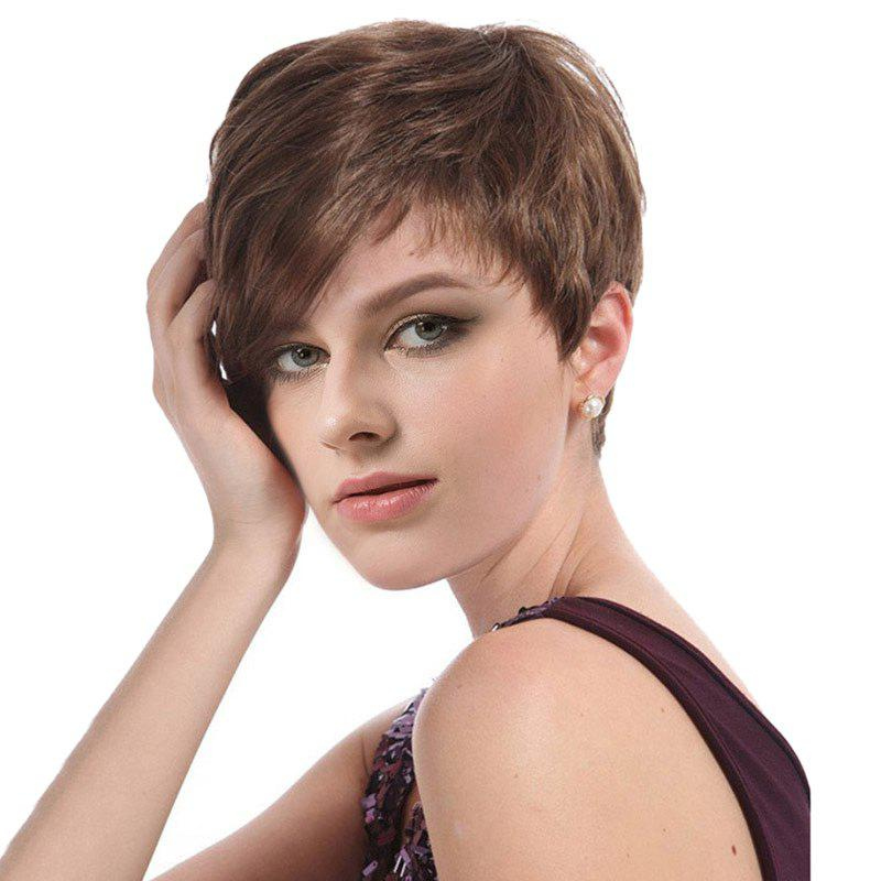 Cheap Short Side Bang Layered Straight Capless Synthetic Wig