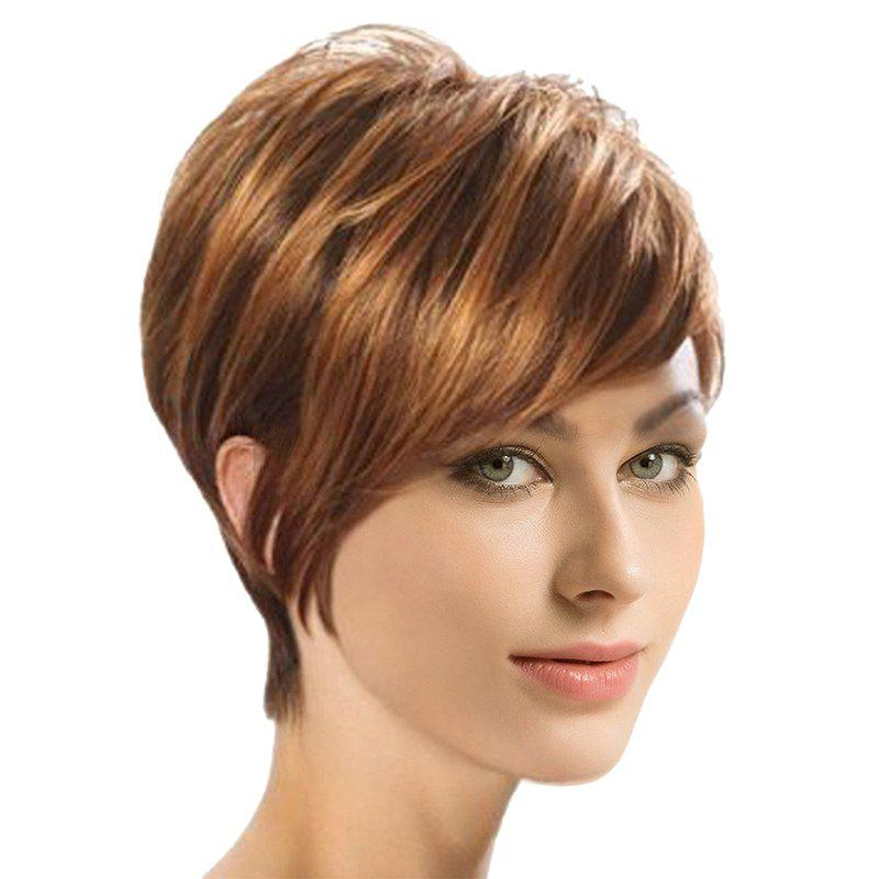 Discount Short Oblique Bang Straight Colormix Synthetic Wig
