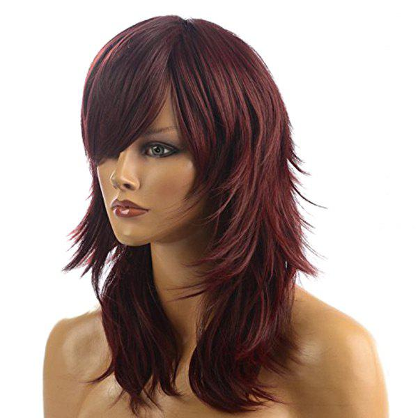 2019 Long Side Bang Layered Straight Synthetic Wig Rosegal Com