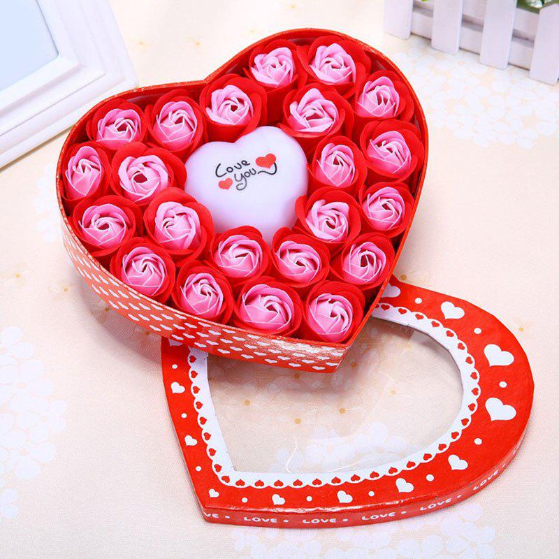 Best Valentine's Day Gift Led Flash Light Heart and Soap Roses in a Box