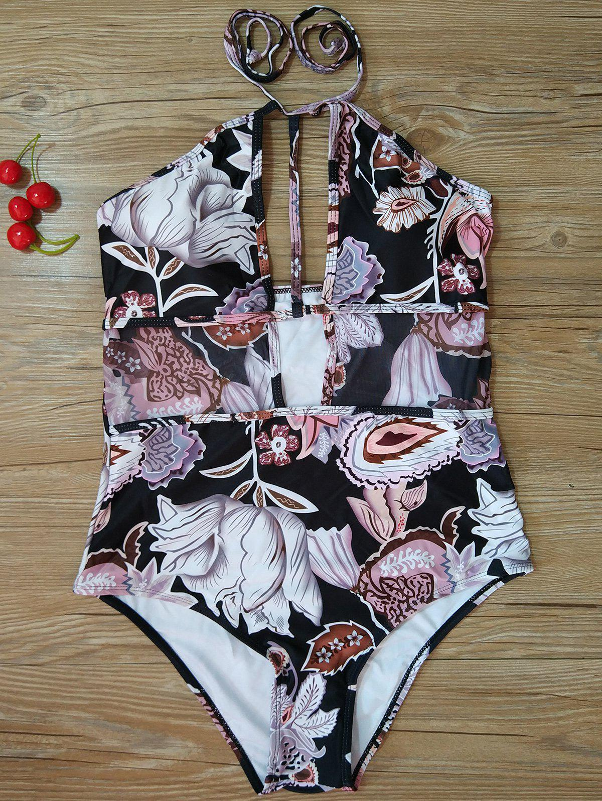 Buy High Cut Printed One-Piece Swimsuit