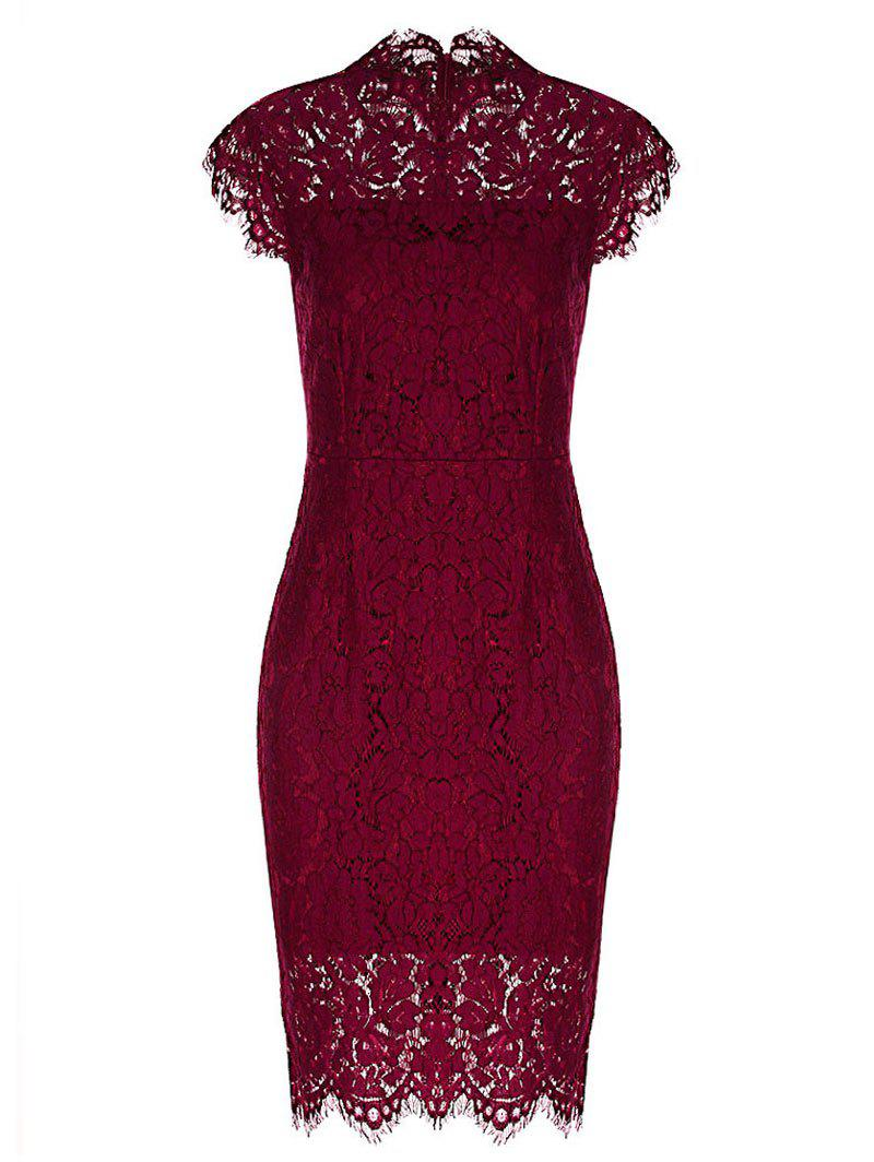 Cheap Fitted Vintage Lace Dress